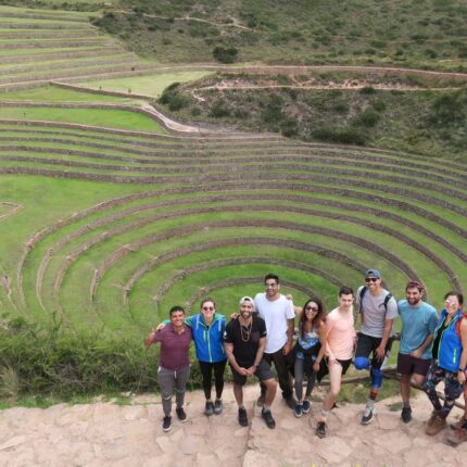 Travelers-in-the-Archaeological-Center-of-Moray-in-Cusco